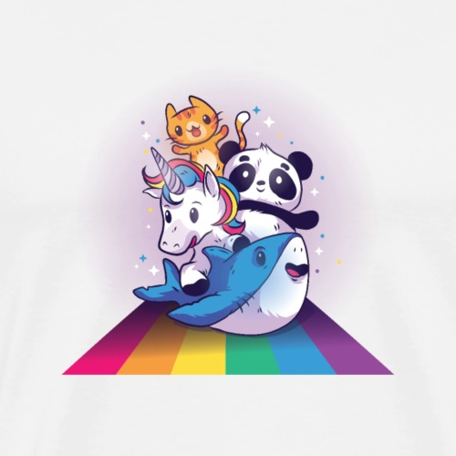 Rainbow Animals - Männer Premium T-Shirt