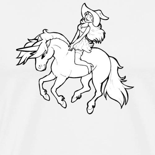 Monter une sorcière sexy sur une licorne. - T-shirt Premium Homme