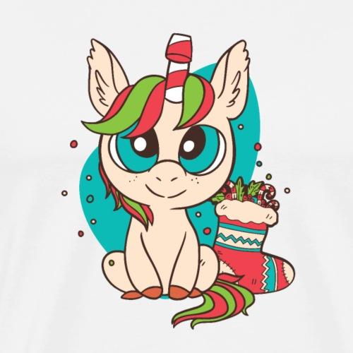 Unicorn Christmas - Männer Premium T-Shirt