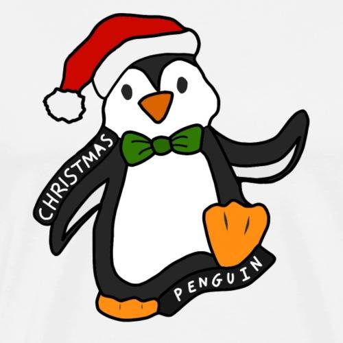 Christmas Penguin - Men's Premium T-Shirt