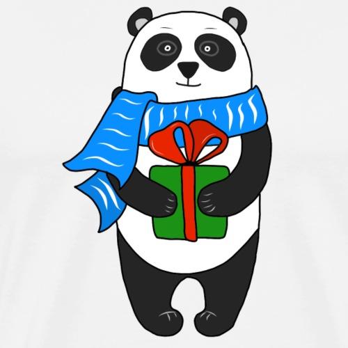 Christmas Present Panda - Men's Premium T-Shirt