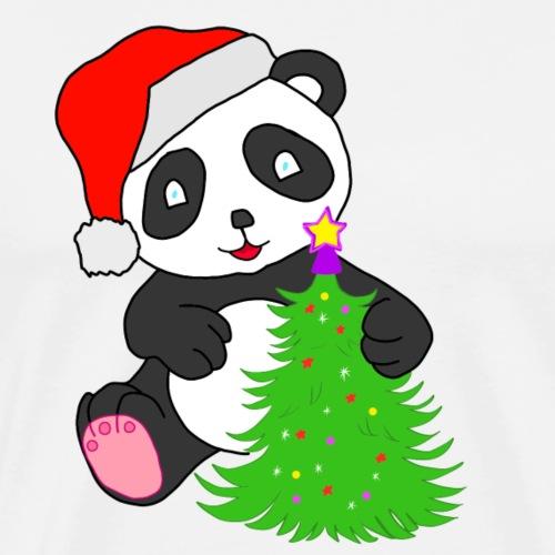 Santa Christmas Panda - Men's Premium T-Shirt