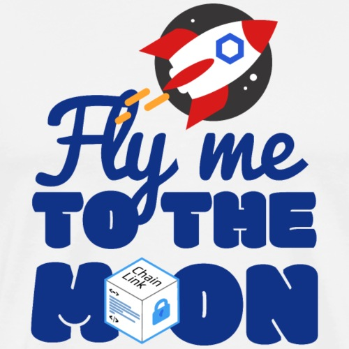 CHAINLINK LINK CRYPTOCURRENCY TO THE MOON - Men's Premium T-Shirt