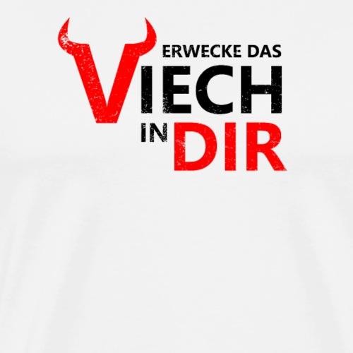 Erwecke das Viech in Dir, Gym Motivation Training - Männer Premium T-Shirt