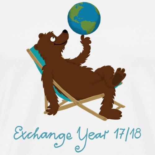 Bär im Liegestuhl- Exchange Year - Männer Premium T-Shirt