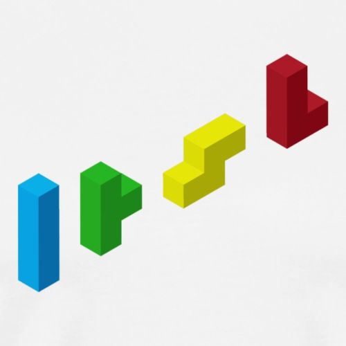 Tetris 3D FlatArt - Men's Premium T-Shirt