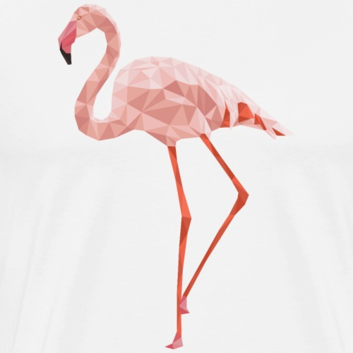 Flamingo Low Poly Art - Männer Premium T-Shirt
