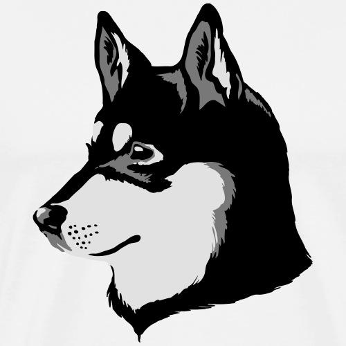 Lapponian Herder Head - Miesten premium t-paita