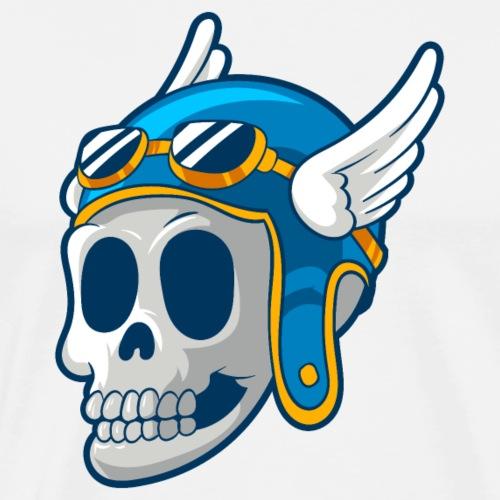 Skull with winged Helmet - Men's Premium T-Shirt