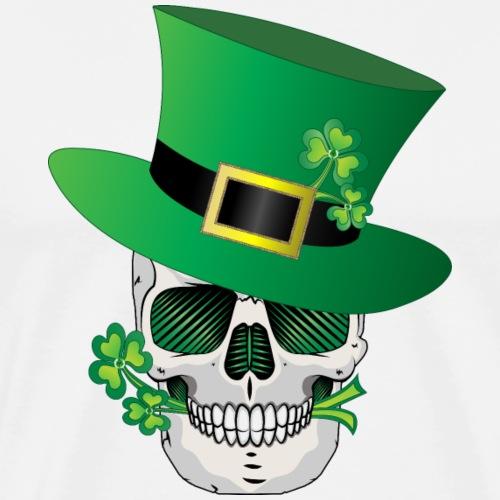 Irish Leprechaun Skull - Men's Premium T-Shirt