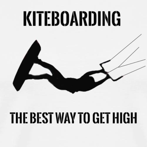 KITEBOARDING - The best way to get high - Men's Premium T-Shirt