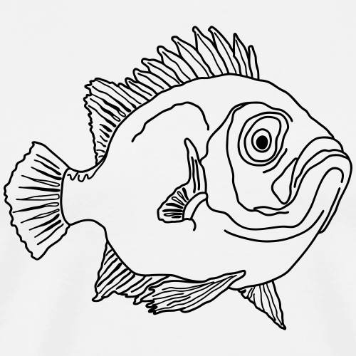 Fische Barsche Ozean Meerwasser Aquarium Angeln - Men's Premium T-Shirt