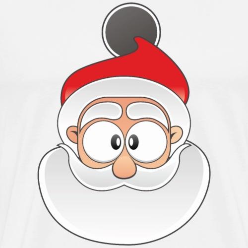 Weihnachtsmann Gesicht | Wintershirt, Handy Cover - Männer Premium T-Shirt
