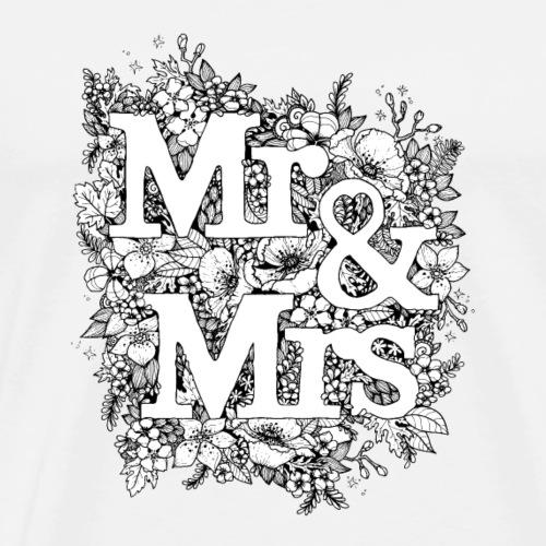 Mr and Mrs - Männer Premium T-Shirt