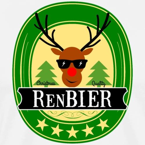 Renbier Geschenk Weihnachtsfeier Outfit - Männer Premium T-Shirt