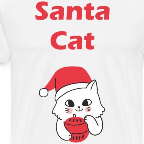 Weihnachts T-Shirt Katzen | Santa Cat | Geschenk - Männer Premium T-Shirt