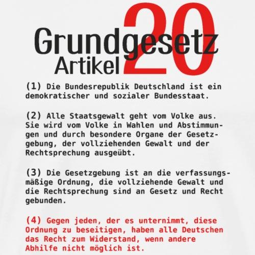 Grundgesetz Artikel 20 Schwarz - Männer Premium T-Shirt