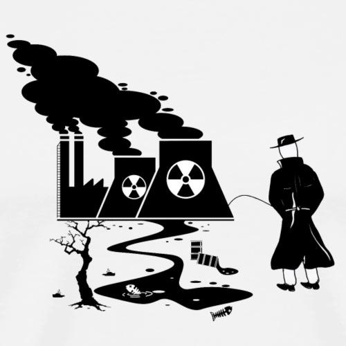Pissing Man against environmental pollution - Männer Premium T-Shirt