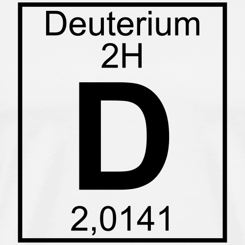 D (Deuterium) - Element 2H - pfll - Men's Premium T-Shirt