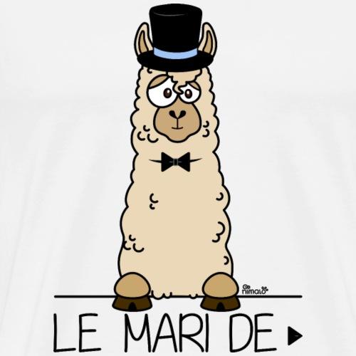 LeMARI de LAMARIEE (1de2), Mariage, marié, Lama - T-shirt Premium Homme