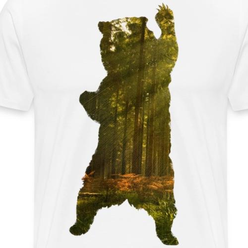 Bär mit Wald - Männer Premium T-Shirt