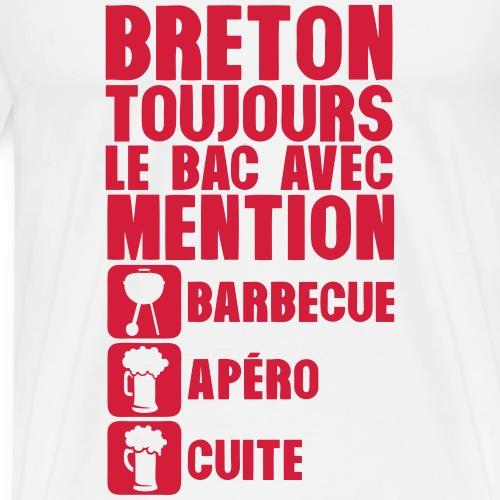 breton mention bac barbecue apero cuite - T-shirt Premium Homme