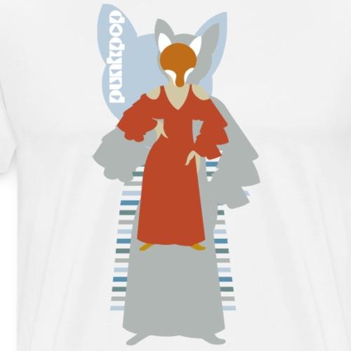 Progressive Fox PunkPop - Maglietta Premium da uomo