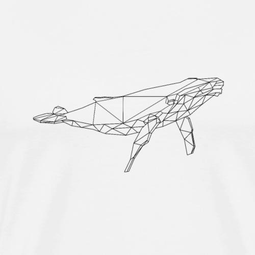 baleine design géométrique - T-shirt Premium Homme