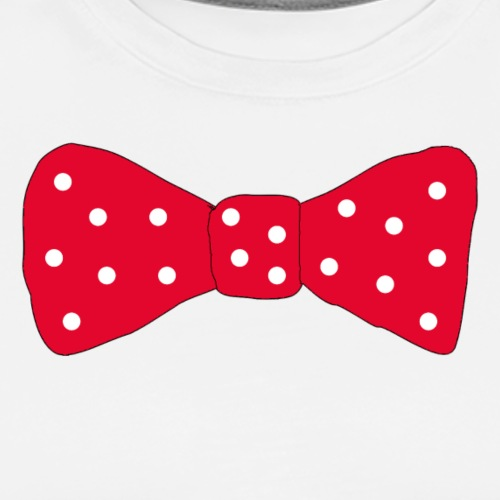 Bow tie Red with White Dots