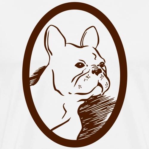 Frenchie - Premium-T-shirt herr