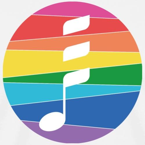Rainbow Note - Männer Premium T-Shirt