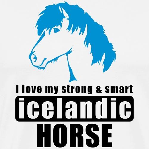 Islandpferd - Pony - Isländer - icelandic horse - Koszulka męska Premium