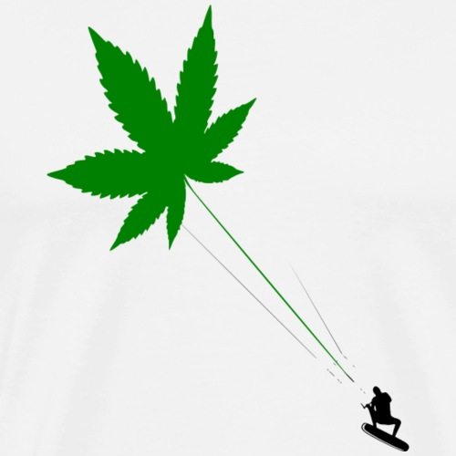 Cannabis Leaf Kiting - Mannen Premium T-shirt