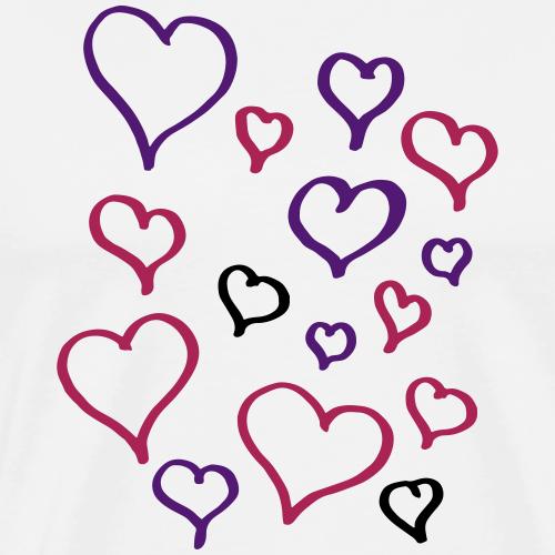 Herzchenrausch Liebe Vektor Rosa Geschenk Valentin - Männer Premium T-Shirt