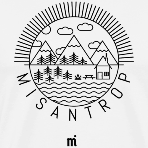 Misantrop - Svart tryck - Premium-T-shirt herr