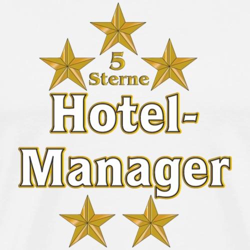 Goldene Serie - Hotelmanager - 5 Sterne - Männer Premium T-Shirt