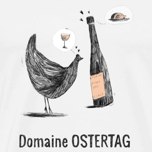 la poule et le vin - T-shirt Premium Homme