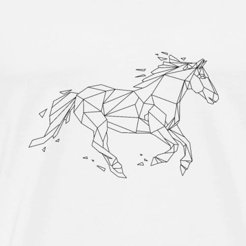 Cheval Design geometrique - T-shirt Premium Homme