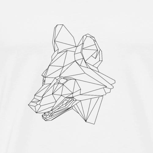 loup géométrique - T-shirt Premium Homme