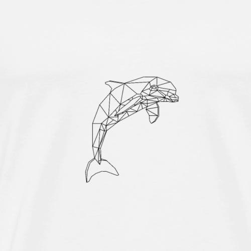dauphin design géométrique - T-shirt Premium Homme