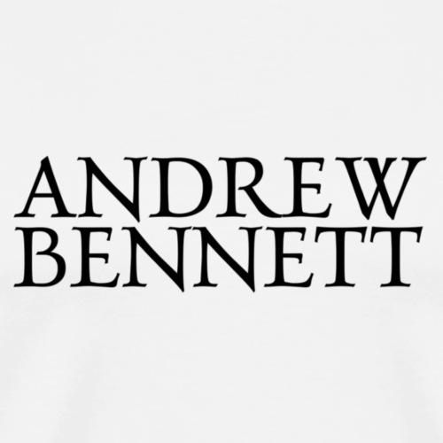 Andrew Bennett Logo noir - T-shirt Premium Homme