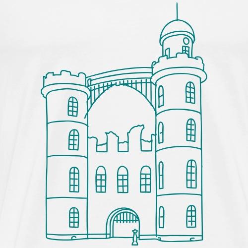Schloss der Pfaueninsel - Maglietta Premium da uomo
