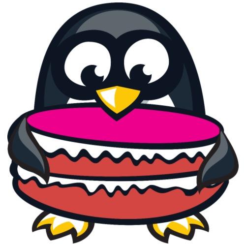 Pinguin mit Torte - Männer Premium T-Shirt