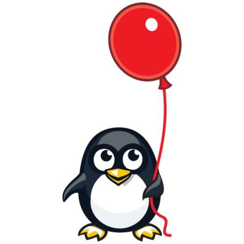 Pinguin Luftballon - Männer Premium T-Shirt