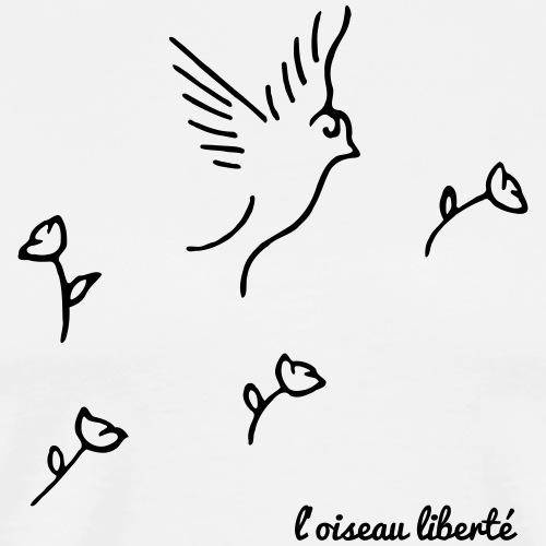 L'oiseau liberté (version dark) - T-shirt Premium Homme