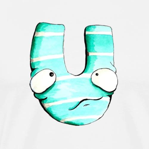 Monster Buchstabe Ulrike - Männer Premium T-Shirt