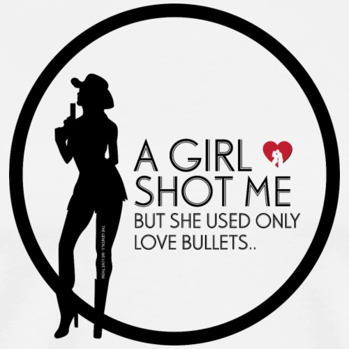 girl shot me - Herre premium T-shirt