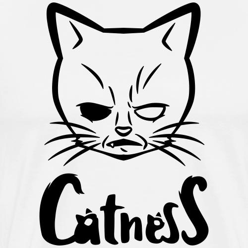 """Mad-Cat"" / black - Männer Premium T-Shirt"
