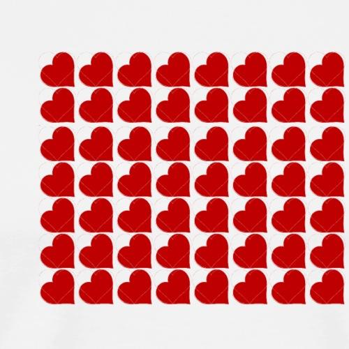 Hearts - Maglietta Premium da uomo
