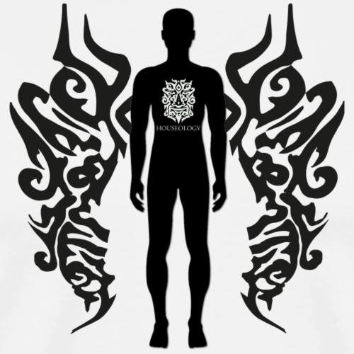 Houseology Original - Angel of Music (INVERSE) - Men's Premium T-Shirt